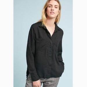 Anthropologie/Cloth&Stone frayed button down